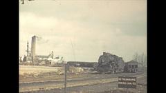 Vintage 16mm film, 1940 Illinois, coal mine and coal train Stock Footage