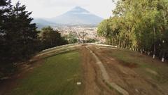 Guatemala city panorama Stock Footage