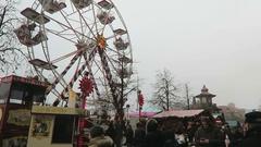 Traditional Christmas fair on Spandau district of Berlin. Stock Footage
