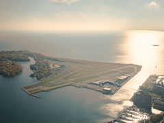 Toronto, Canada, Timelapse  - Billy Bishop Toronto City Airport Stock Footage
