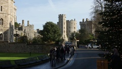 Christmas in Windsor: Christmas tree in England Stock Footage