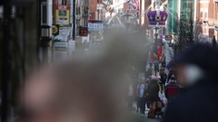 Christmas Shopping in England - the city of Windsor Stock Footage