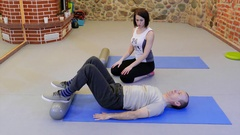 Personal fitness training. Physiotherapy of musculoskeletal Stock Footage
