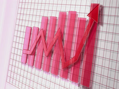 Red Business Arrow Animated Upward Graph 4K Stock Footage