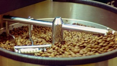 Machine for roasting coffee Stock Footage