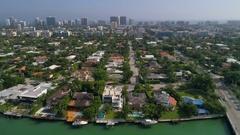 Aerial Bay Harbor Islands Stock Footage