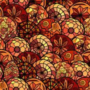 Hand drawn ethnic seamless pattern Stock Illustration