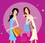 New in designers Shop : Commercial, shopping Art Illustration Stock Illustration