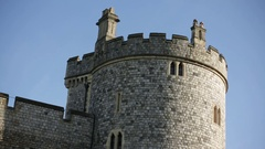 Windsor Castle in England Stock Footage