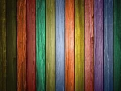 Colored wood plank background Stock Illustration