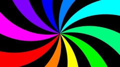 Rainbow spectral swirl rotating quickly anticlockwise, seamless loop Stock Footage