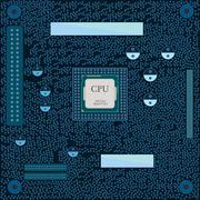 Motherboard CPU illustration Stock Illustration