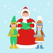 Christmas carols singers Stock Illustration