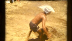 Sri Lanka 1986 working under hot sun Stock Footage
