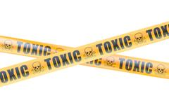 Toxic Hazard Barrier Tapes, 3D rendering Stock Illustration