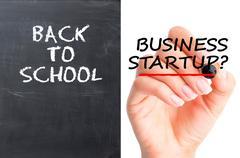 School or business startup dilemma Stock Photos