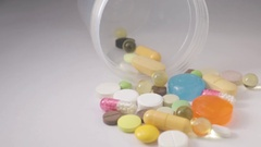 Different Medication Pills Stock Footage