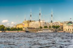 View of the Frigate Grace, St. Petersburg, Russia Stock Photos