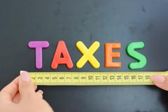 Measure taxes concept in a business, company or economy Stock Photos