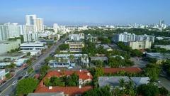 Aerial Miami Beach Alton Road Stock Footage
