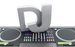 3d Disc jockey mixer. Stock Illustration
