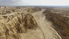Southern Negev desert and Aravah Valley (wadi arabah) Stock Footage