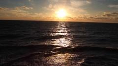 Black sea Crimea storm sea brown,waves and rocks Stock Footage