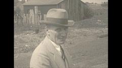 Vintage 16mm film, 1925 coal mine people, various staff Stock Footage