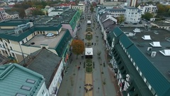 Aerial: Brest city from air Stock Footage