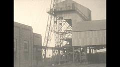 Vintage 16mm film, 1925 Illinois, coal mine tipple, sequence Stock Footage