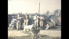 Vintage 16mm film, 1942 Illinois, duck hunters and their dogs... Stock Footage