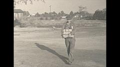 Vintage 16mm film, 1940 Illinois, coal mine, staff people Stock Footage