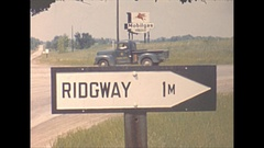 Vintage 16mm film, 1944 Illinois, Ridgway Ill town... Stock Footage