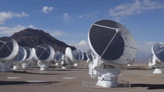 Paranal Observatory - Astronomical Observatory (Atacama Desert of Chile) Stock Footage