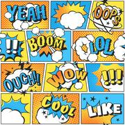 Comic style boom effect sound in pop art vector Stock Illustration