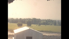 Vintage 16mm film, 1944 Illinois, coal mine panorama, view from top of tipple Stock Footage