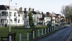 Typical Street in England Stock Footage