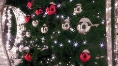 Detail of elegant Christmas tree Stock Footage