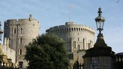 Windsor Castle in England Stock Footage