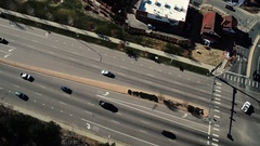 A top view of a busy road with many vehicles moving around COLORADO Stock Footage