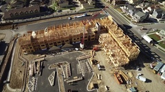 Aerial view of apartment complex in construction. COLORADO Stock Footage