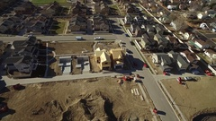 Aerial view of an urbanization with some areas still under construction Stock Footage
