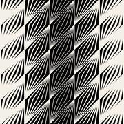 Vector Seamless Parallelogram Halftone Oblique Lines Pattern Stock Illustration