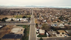 Aerial view of a city showing all its landmarks COLORADO Stock Footage
