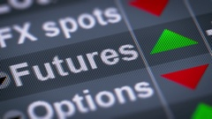 Futures. Up. Looping. Stock Footage