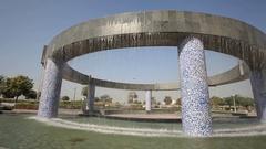 Fountain in Abu Dhabi, UAE Stock Footage