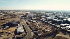 Aerial of an industrial area COLORADO Stock Footage
