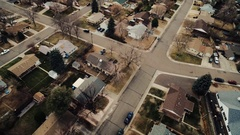 Houses in neatly arranged rows in a dense neighborhood COLORADO Stock Footage