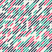 Vector Seamless Parallel Diagonal Red Green Overlapping Color Lines Pattern Stock Illustration