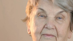 Portrait of a elderly woman aged 80s Stock Footage